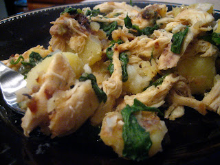 Indulge & Enjoy: Chicken, Spinach, and Potato Hash
