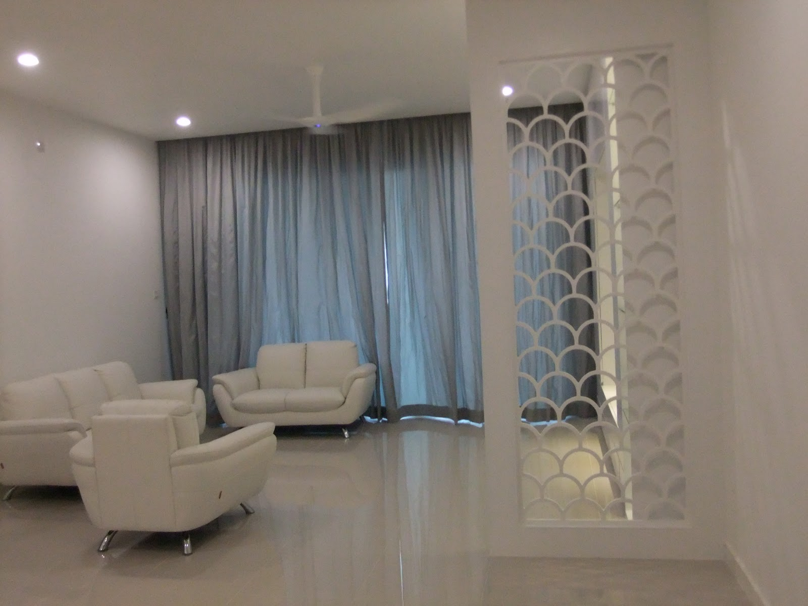 Interior Design & Renovation At The Park Residence: Curtains And Blinds