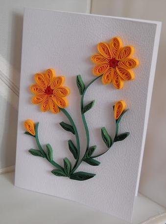 Cadouri handmade quilling art fq052 sunflowers 10 for Quilling craft ideas