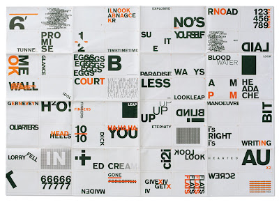 A sample of Harry Pearces typographic conundrums
