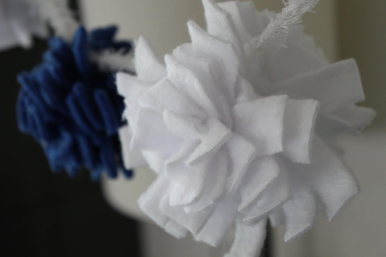 как сделать цветы из флиса.