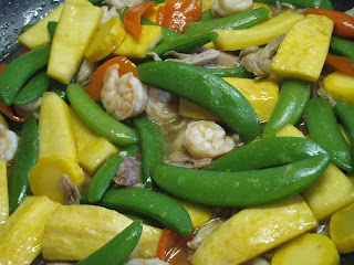 Snap Peas and Yellow Squash Stir Fry