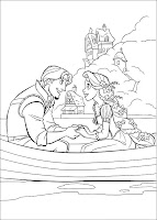 planse de colorat Rapunzel