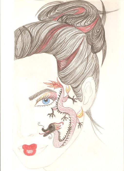 "croquis prepa make up ""geisha"""