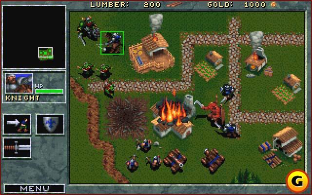 Juegos RTS de Estrategia en 2D Warcraft1-+gamepsot