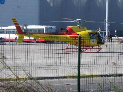 Simulacro de sismo no Barreiro: Helicóptero