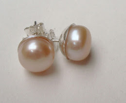 Aretes Perlas de río