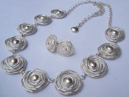 Collar Rosas de Plata