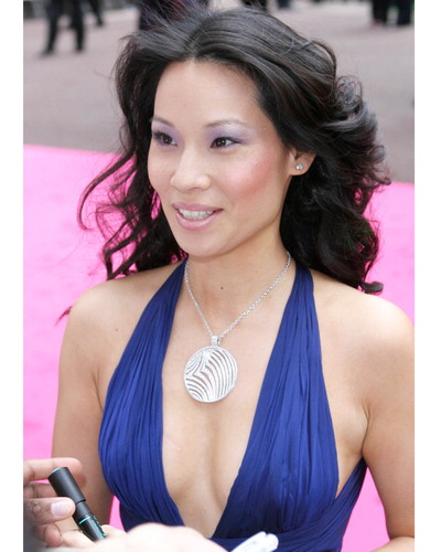 lucy liu shower