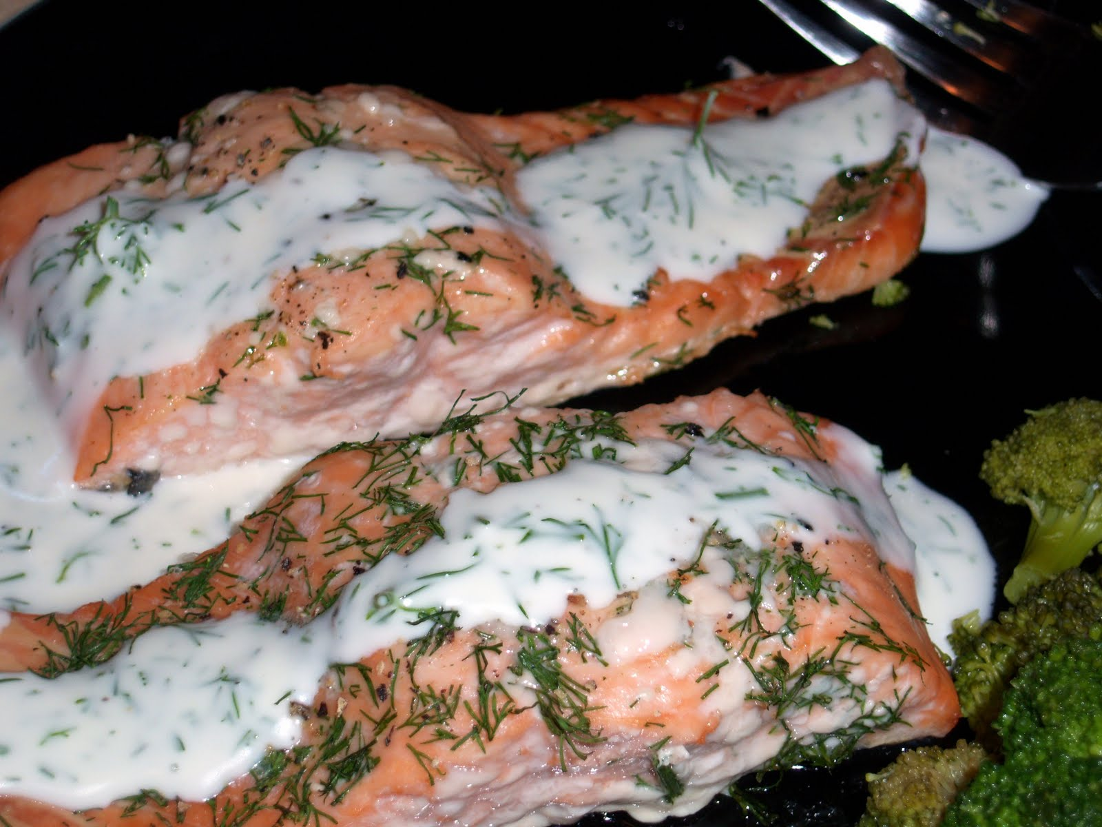 Baked Salmon with Dill Mustard Sauce | Healing Cuisine by Elise