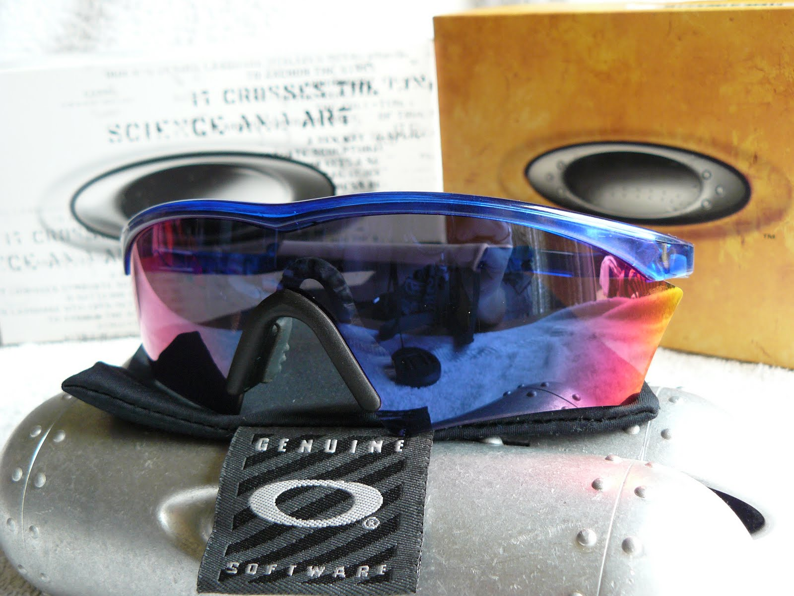 Amazing Oakley M Frame Blue Iridium Ornament - Framed Art Ideas ...
