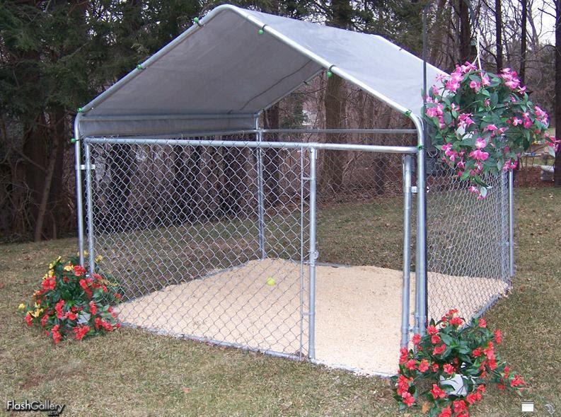 Portable garage shelter king instant garages storage for Carport dog kennels