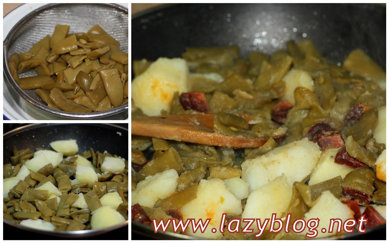 Cenas ligeras jud as verdes con patata y chorizo - Como hacer judias verdes ...