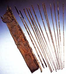 18. Otzi's quiver and arrows http://woodtrekker.blogspot.com.au/2010/10/tool-kit-of-otzi-iceman.html