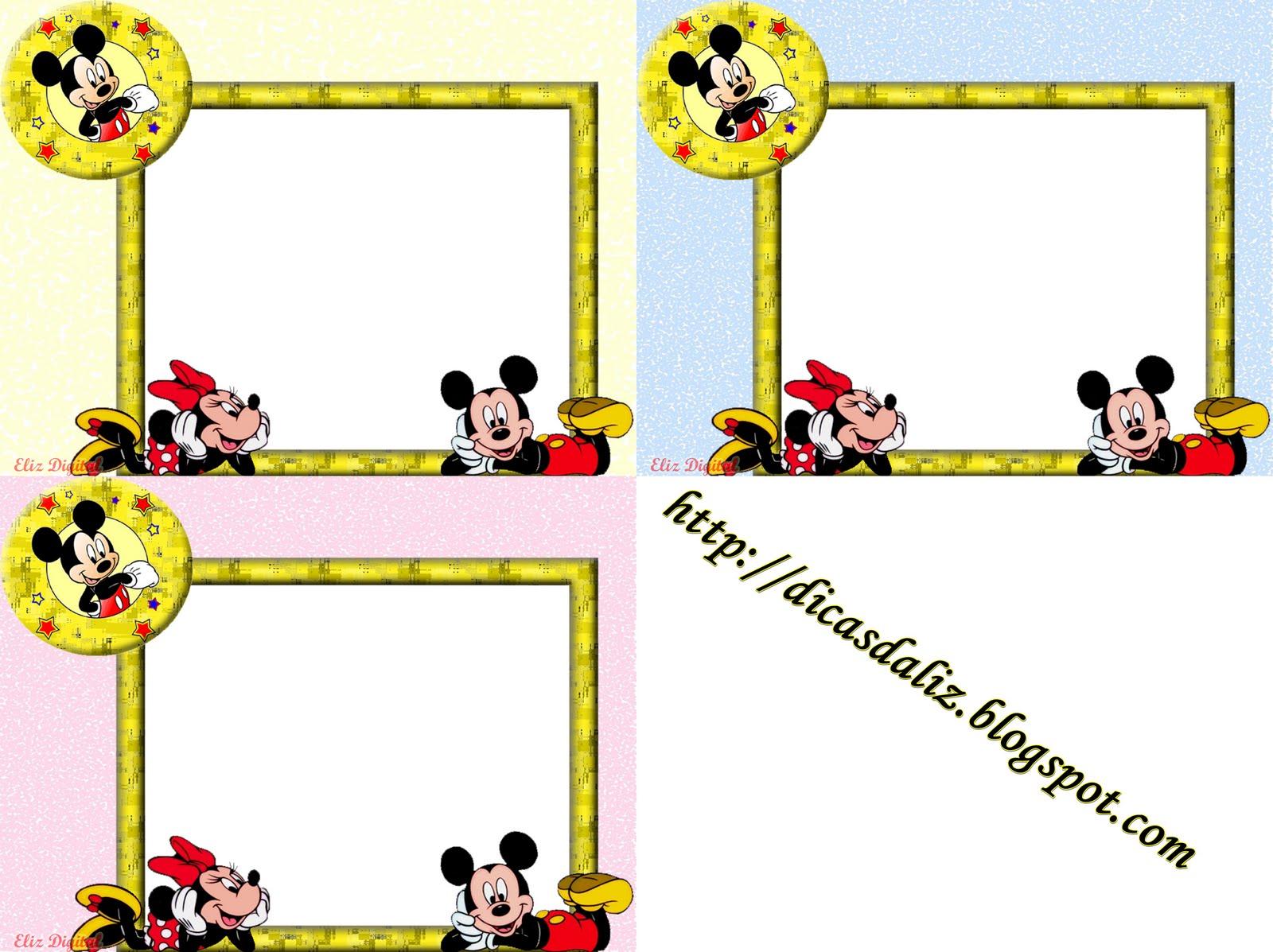 Molduras Do Mickey Em     Fundo Transparente