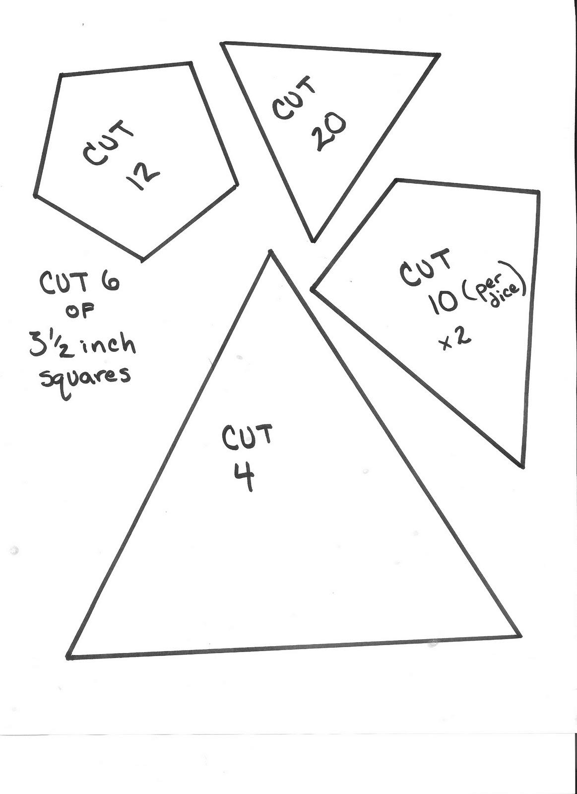 4 dice template