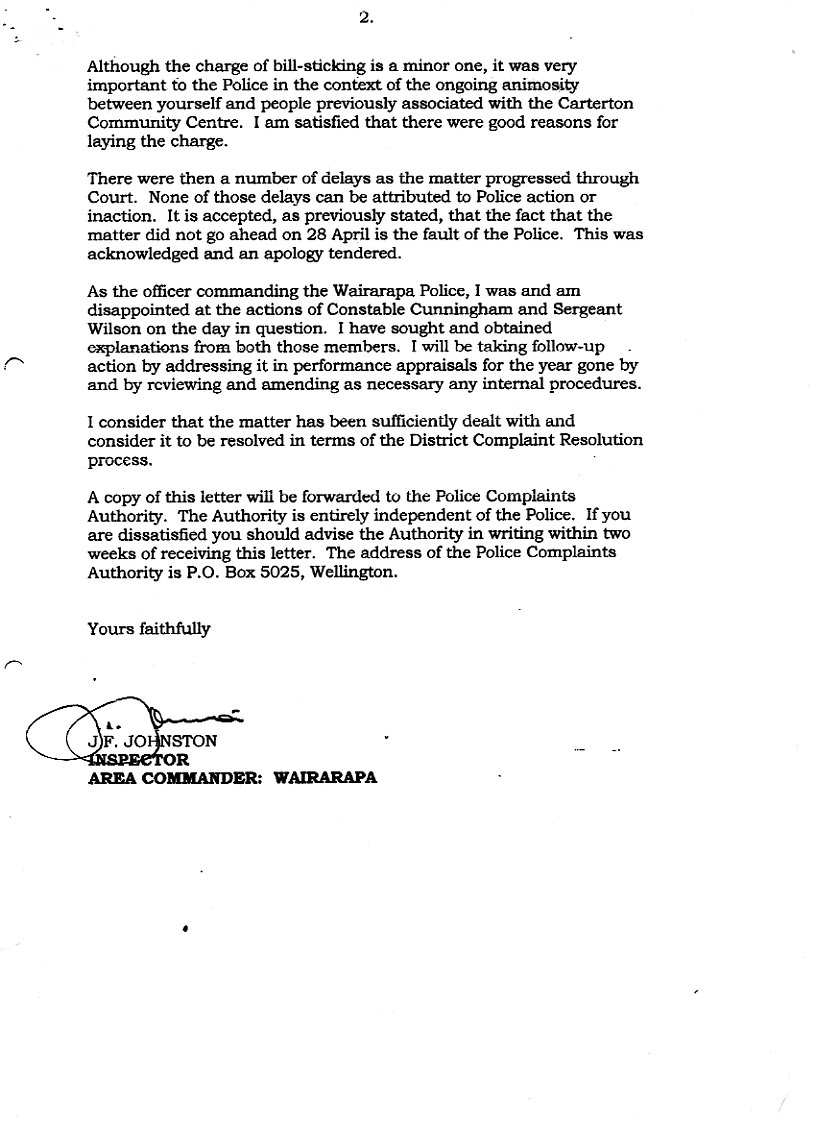 Kiwikileaks Transparency in New Zealand Wairarapa Police and