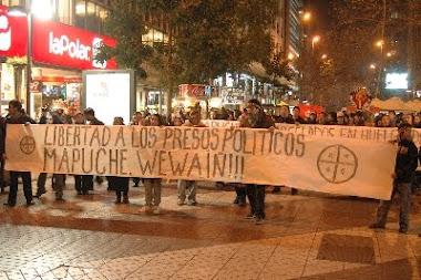 Marcha por presos politicos Mapuche