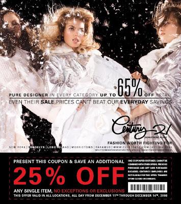 Century 21 coupon code