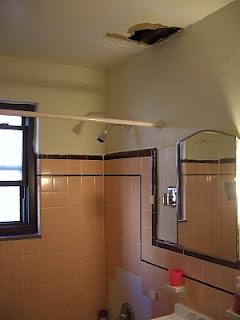 Leaking bathroom ceiling bathroom leak 4 for Leaked bathroom photos