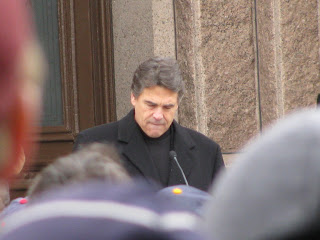 Governor Rick Perry at the 2009 Texas Rally for Life