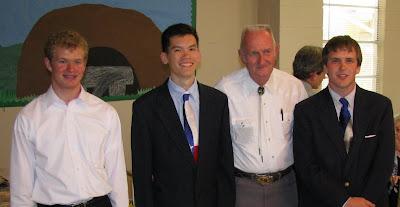 Paul, Caleb, Mr. Ramsey, and Drew