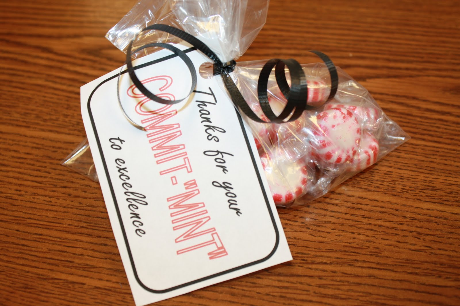 It's just a photo of Zany Thank You for Your Commit Mint Free Printable