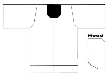 Template for Hooded Ring Jacket - FRONT