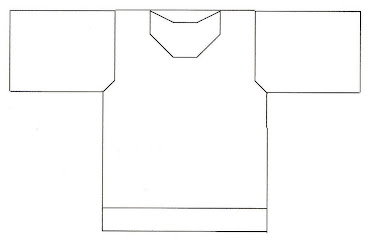 Template for Hooded Ring Jacket - BACK