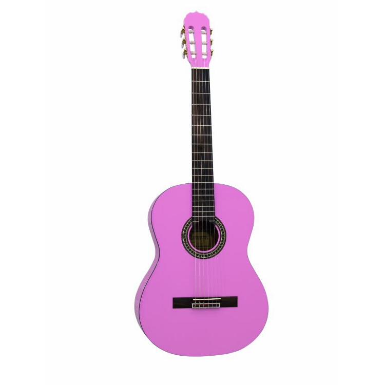 Pink Acoustic Guitar: AC-300 acoustic guitar pink Dimavery