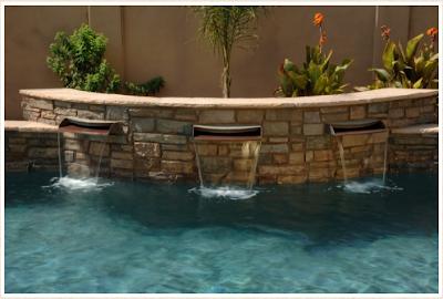 แบบน้ำพุ-น้ำตกสำหรับ จัดสวน