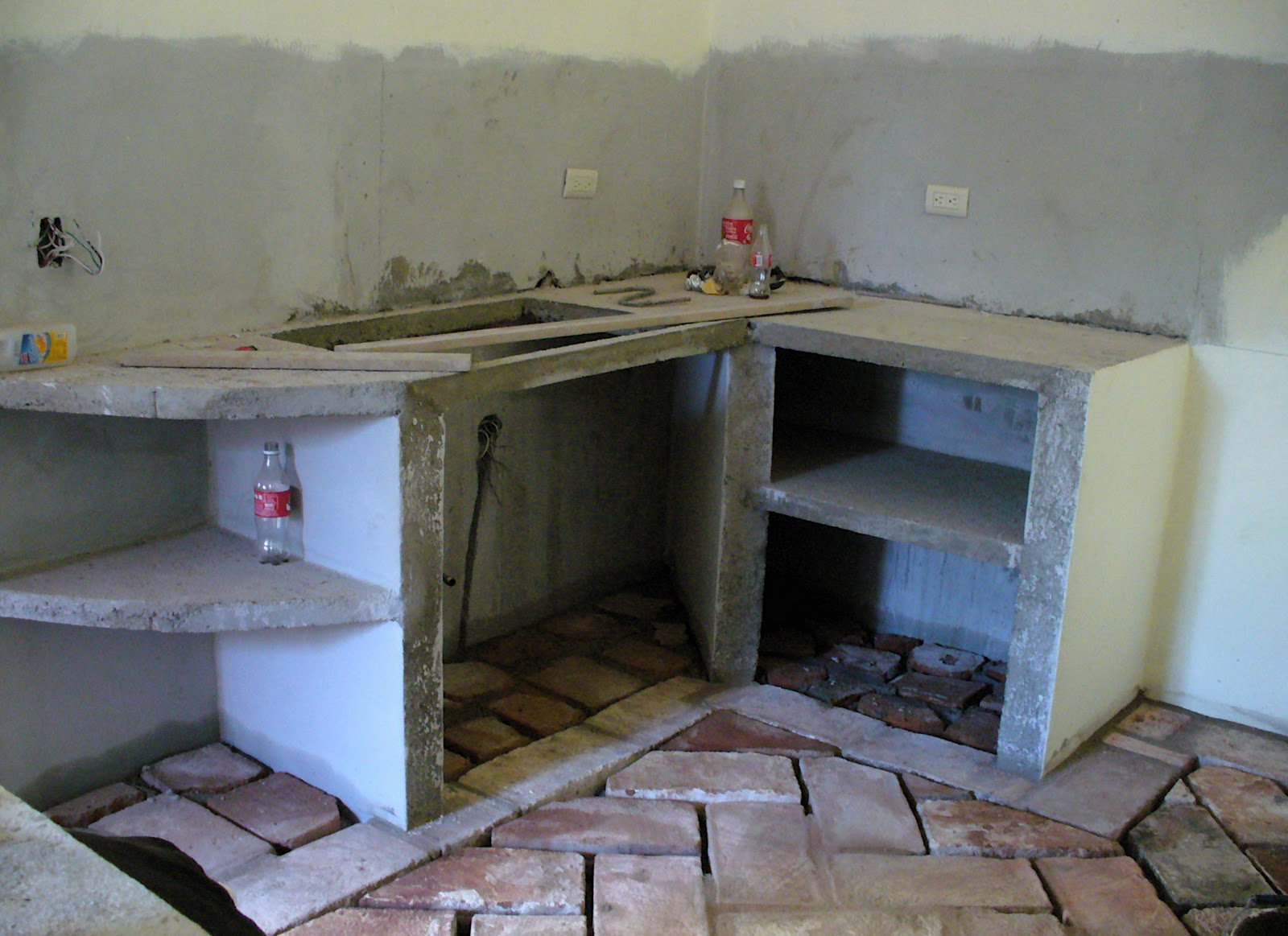 Alt build blog the masonry kitchen for Kitchen units made of bricks