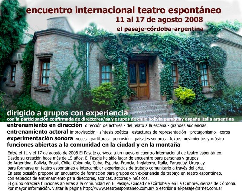 encuentro internacional de teatro espontáneo