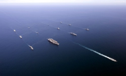 Joint military exercises in the Sea of Japan, the US-ROK Combined Fleet