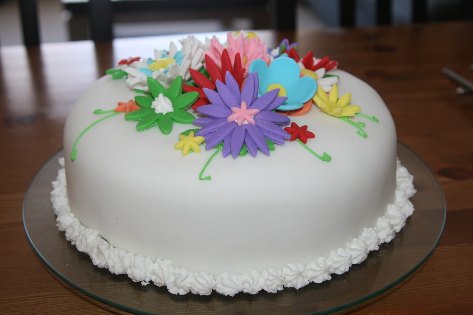 For the Fun of Cooking: Flower Birthday Cake