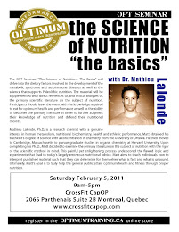 OPT Nutrition Series: The Science of Nutrition - The Basics