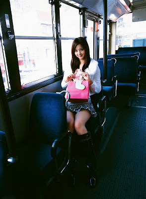 Japanese Cute Model Nozomi Sasaki On Public Bus