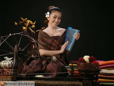 doung zorida khmer model in custom dress