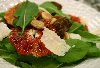 ... Crumbs: Blood Oranges, Dates, Parmesan, and Almonds (and Arugula, too