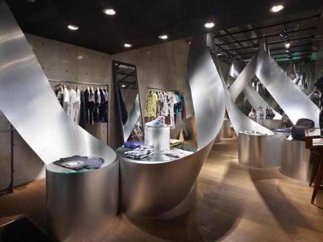 The art reference diesel store 39 s design for Couchtisch design inside art aluminium splendeur