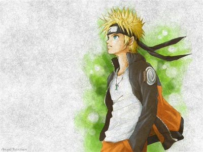 Naruto Shippuden Button: Naruto Uzumaki