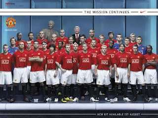 New Manchester United Kit 2007-2008 Wallpaper