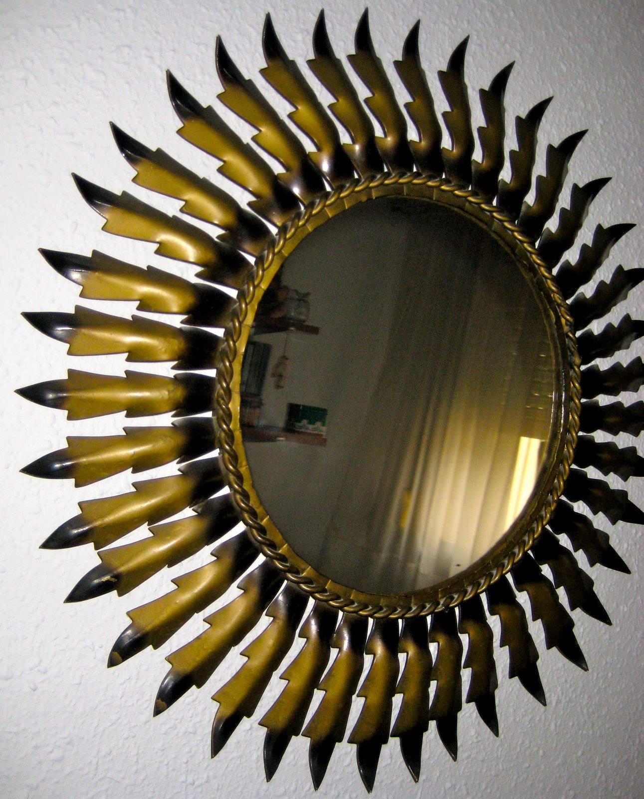 Espejo vintage con forma de sol v e n d i d o - Espejos con forma de sol ...