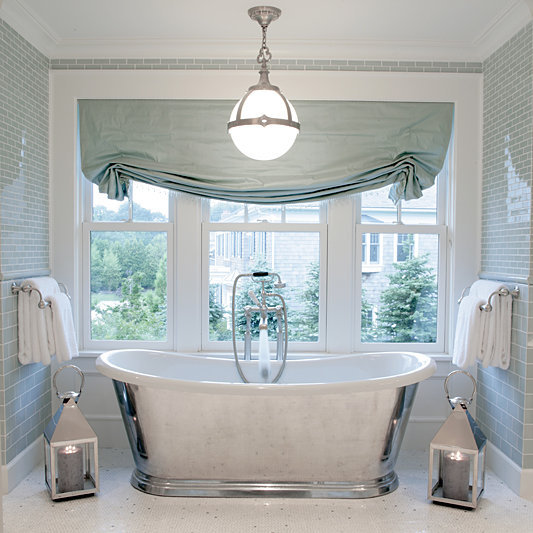 Decoracion De Baños Azules:Window Tile in Bathrooms with Tub