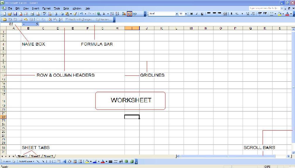learning excel formulas components of a spreadsheet ms excel 2003. Black Bedroom Furniture Sets. Home Design Ideas