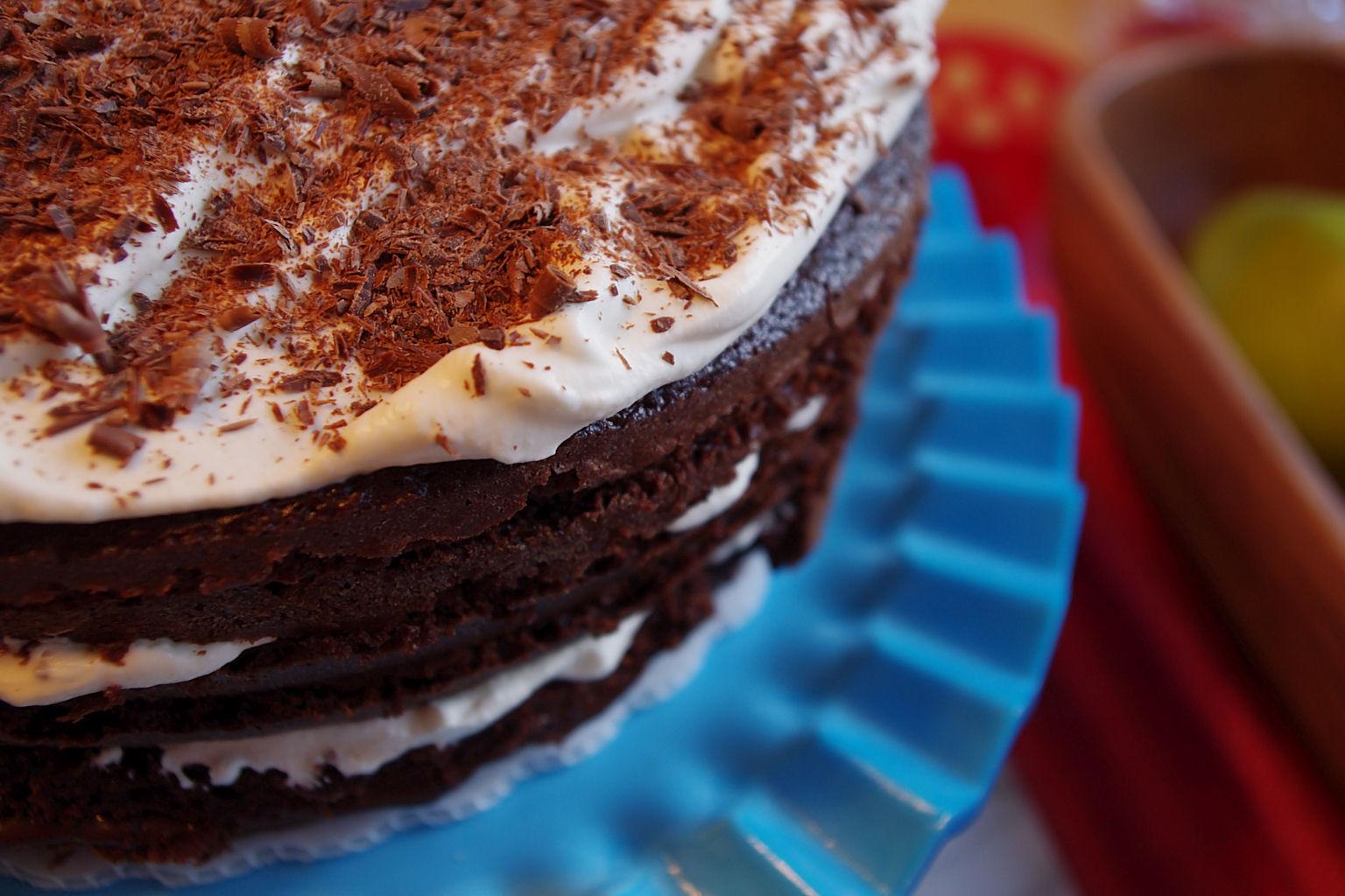 Six Layer Chocolate Whip Cream Cake And A Humble Pecan Pie