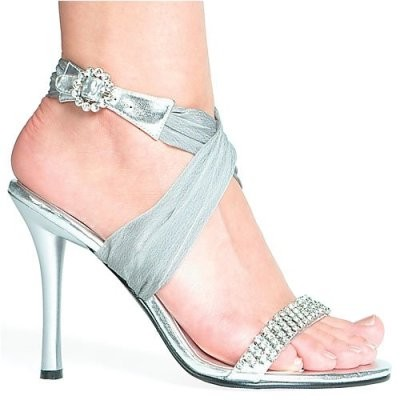 High Heels Wedding Shoes Glamorous Silver Wedding Shoes