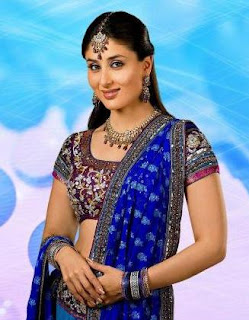 Kareena Kapoor in Blue Saree