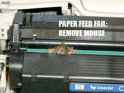 Mouse inside printer