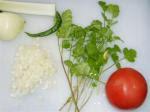 Ingredientes del ají casero